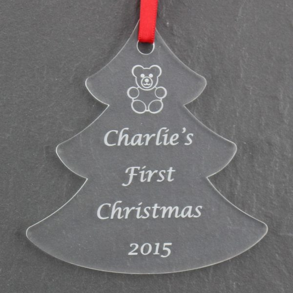 personalised baby child first christmas bauble 2 2