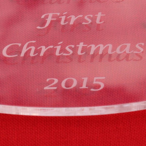 personalised baby child first christmas bauble 3 2