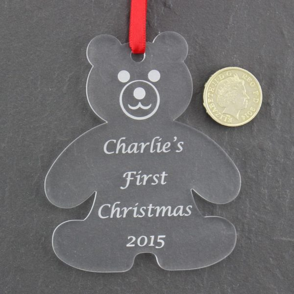 personalised baby child first christmas bauble 4 1