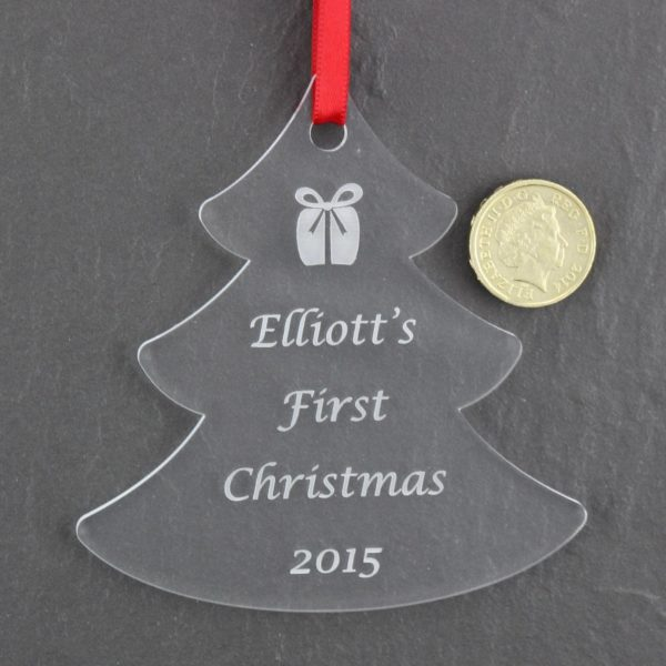 personalised baby child first christmas bauble 4