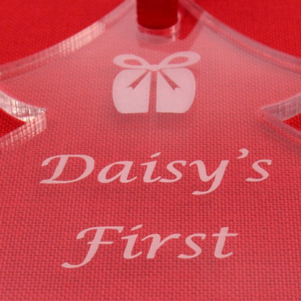 personalised baby child first christmas bauble 5