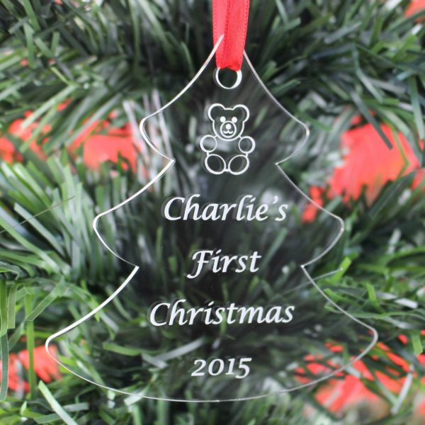 personalised baby child first christmas bauble 6 2
