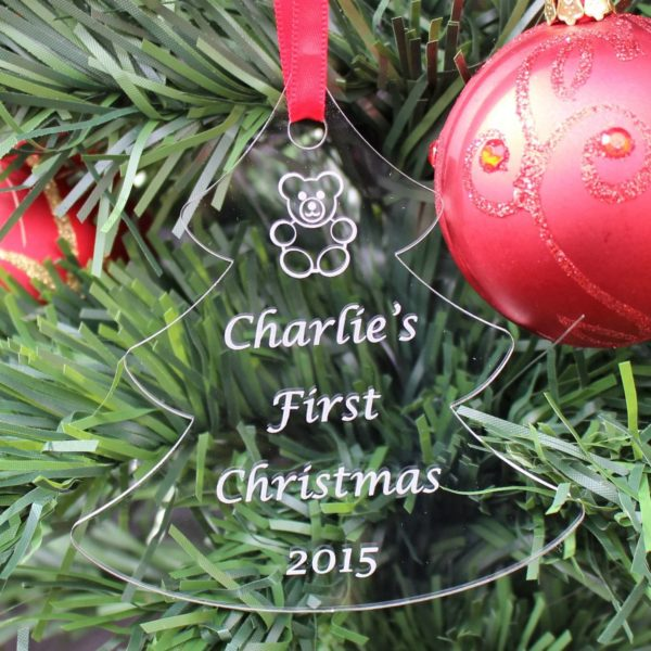 personalised baby child first christmas bauble 7