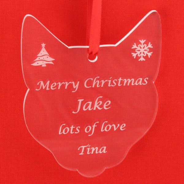 personalised cat christmas bauble 6