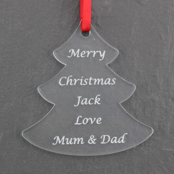 personalised child christmas tree bauble 2