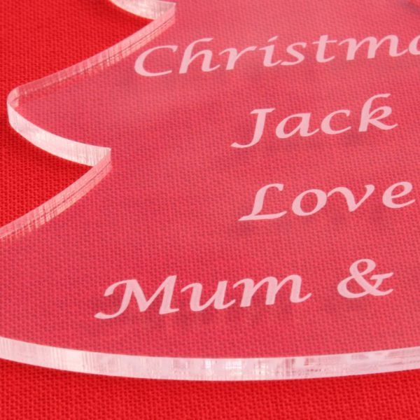 personalised child christmas tree bauble 5