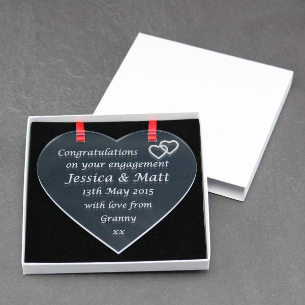 personalised engagement heart 10
