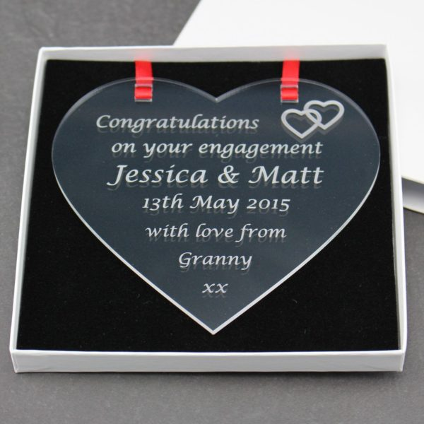 personalised engagement heart 9