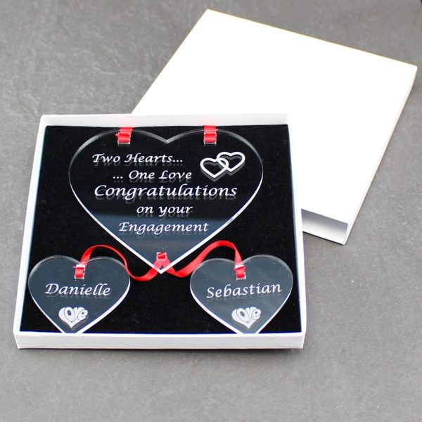 personalised engagement two hearts one love 11
