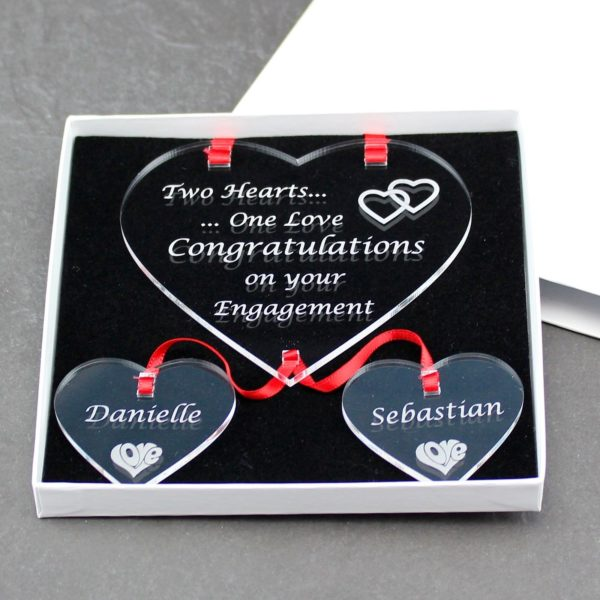 personalised engagement two hearts one love 4