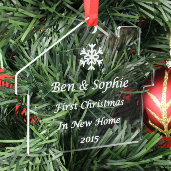 personalised first christmas in new home bauble 2