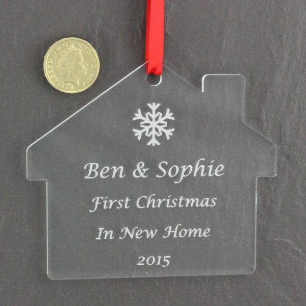 personalised first christmas in new home bauble 4