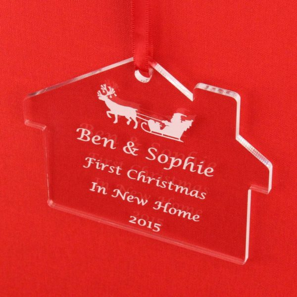 personalised first christmas in new home bauble 8
