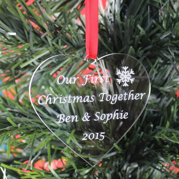 personalised first christmas together bauble 12