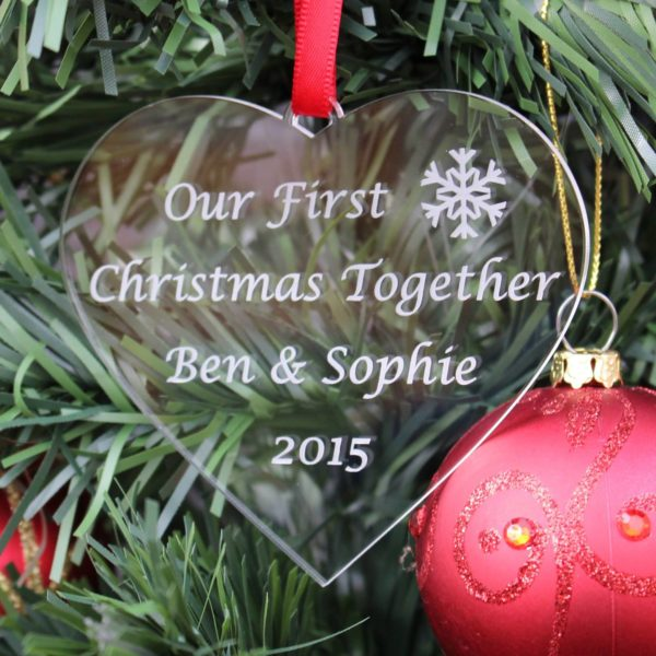 personalised first christmas together bauble 7