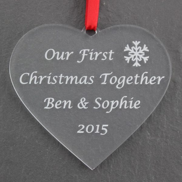 personalised first christmas together bauble 8