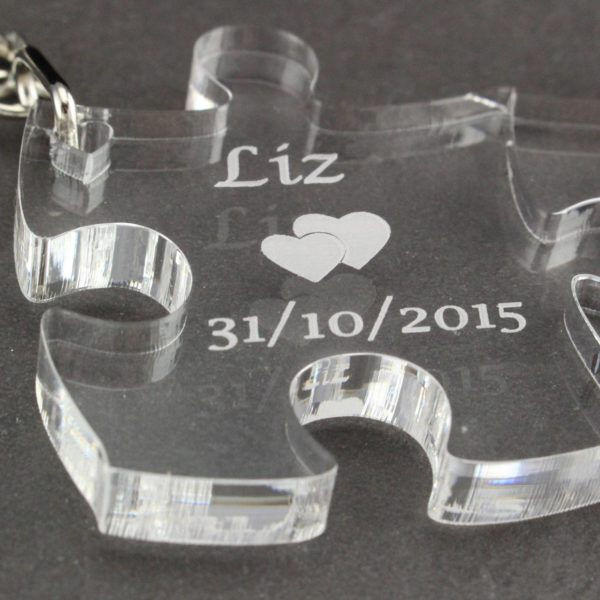 personalised puzzle pieces key rings 3
