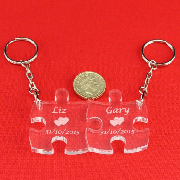 personalised puzzle pieces key rings 4