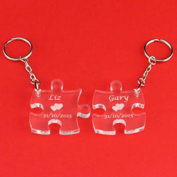 personalised puzzle pieces key rings 6