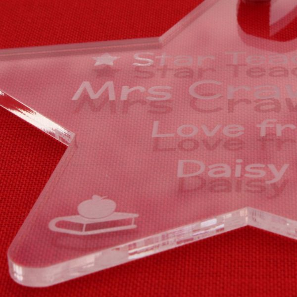 personalised star teacher end of term gift