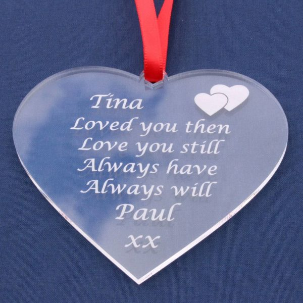personalised valentine anniversary poem bauble 2