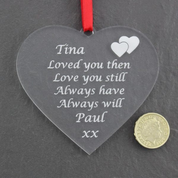 personalised valentine anniversary poem bauble 4