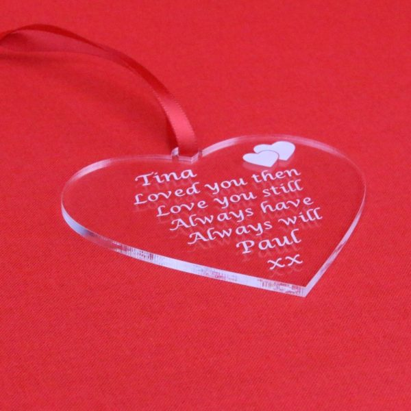 personalised valentine anniversary poem bauble 5