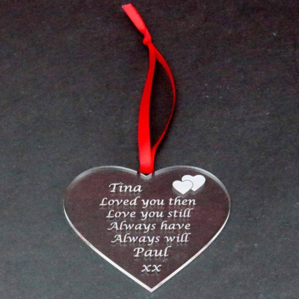 personalised valentine anniversary poem bauble 6