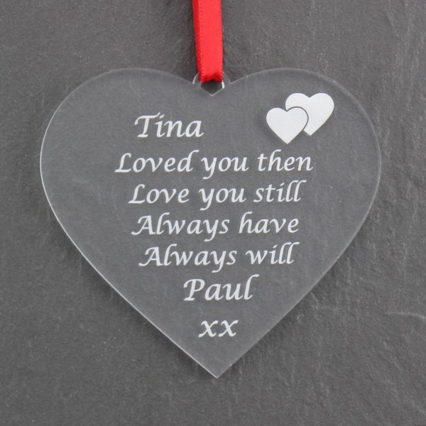 personalised valentine anniversary poem bauble