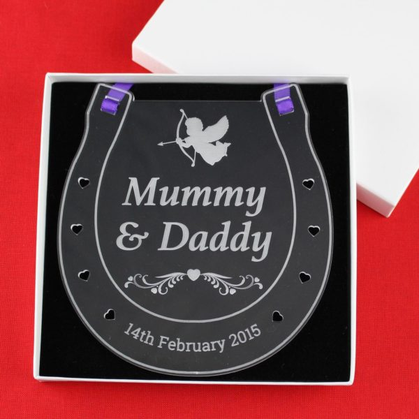 personalised wedding horseshoe mummy daddy 10