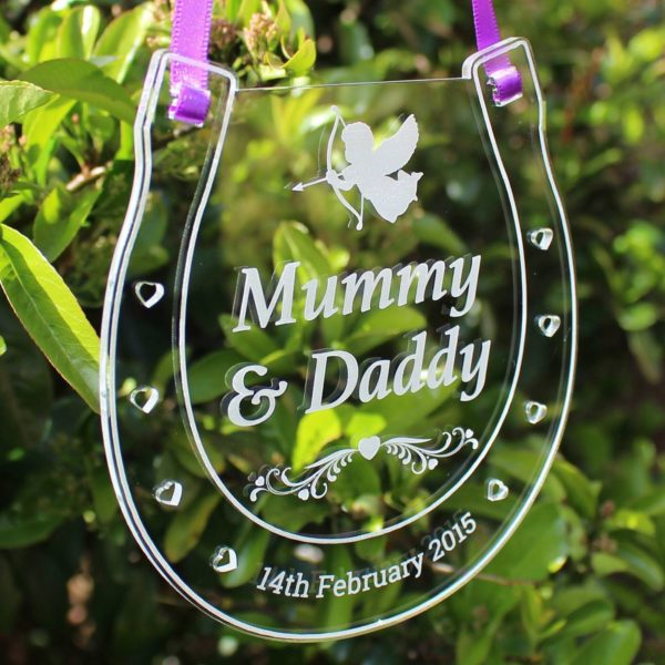 personalised wedding horseshoe mummy daddy 4