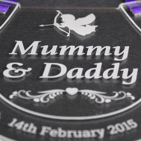personalised wedding horseshoe mummy daddy 5