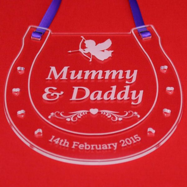 personalised wedding horseshoe mummy daddy 7