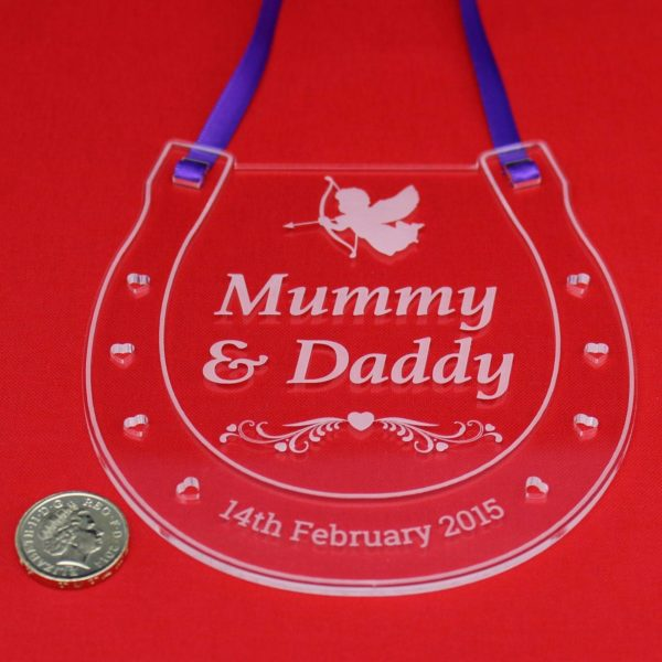 personalised wedding horseshoe mummy daddy 8