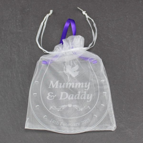 personalised wedding horseshoe mummy daddy 9