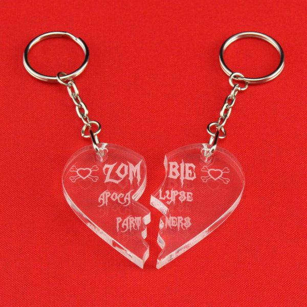 zombie apocalypse partners key rings 3
