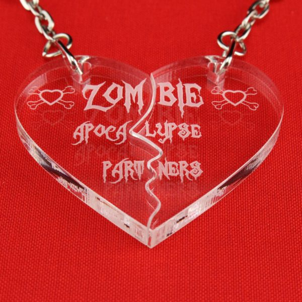 zombie apocalypse partners key rings