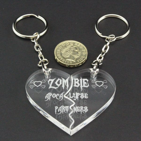 zombie apocalypse partners key rings 7