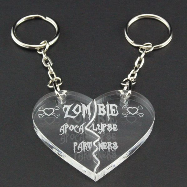 zombie apocalypse partners key rings 8