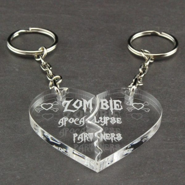 zombie apocalypse partners key rings 9