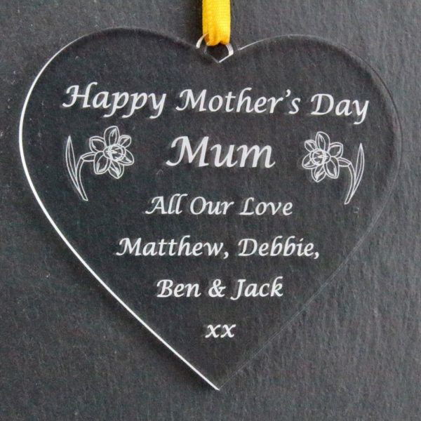 personalised mother's day heart