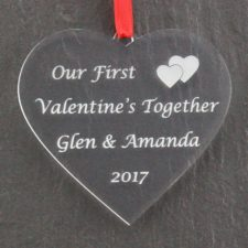 first valentines together heart 2017