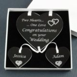 Personalised Wedding Two Hearts One Love
