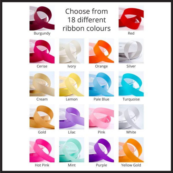 ribbon colours named