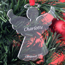 Personalised Child Christmas Angel Tree Bauble