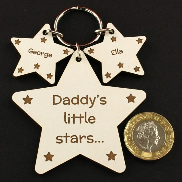 daddys little stars wood coin