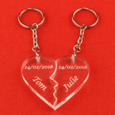 kissing lovers keyring main