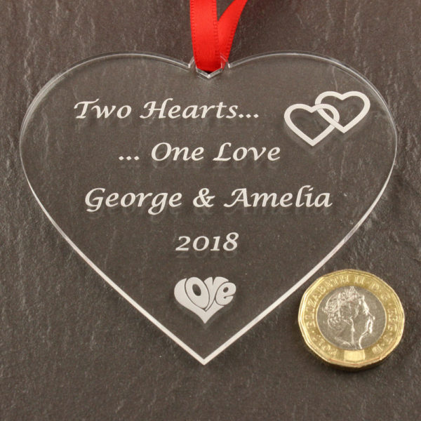 valentines two hearts coin