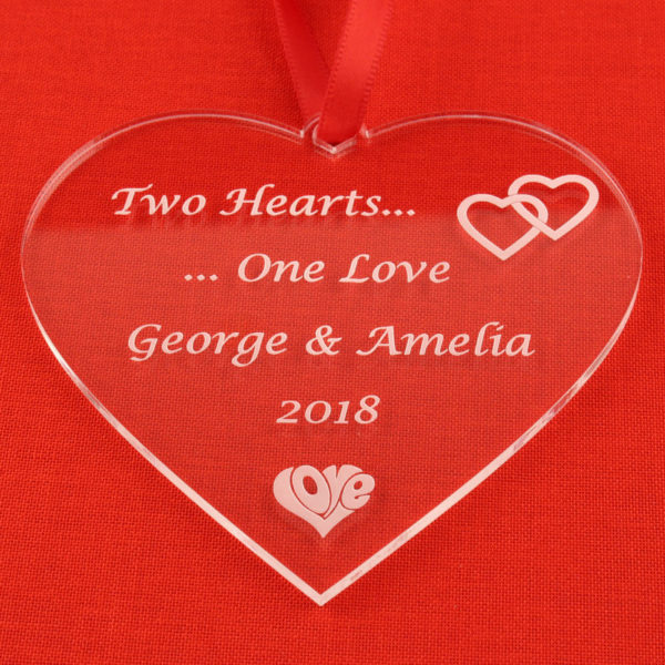 valentines two hearts red