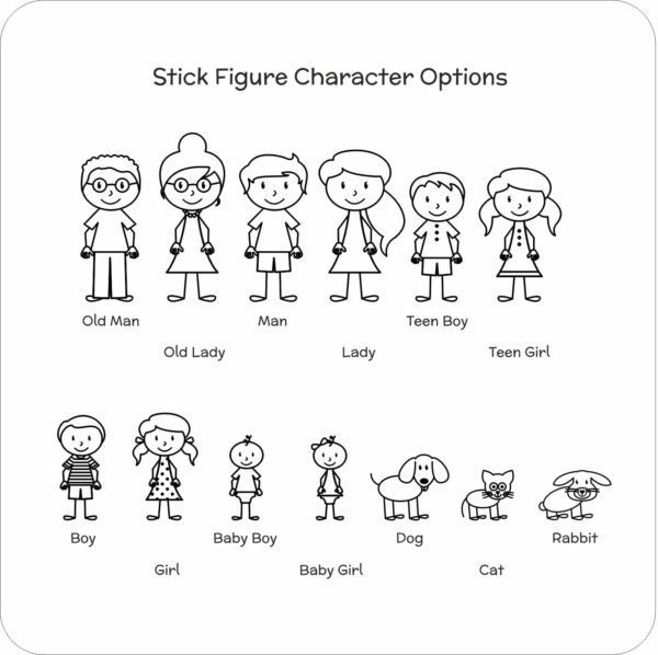 coaster stick character options